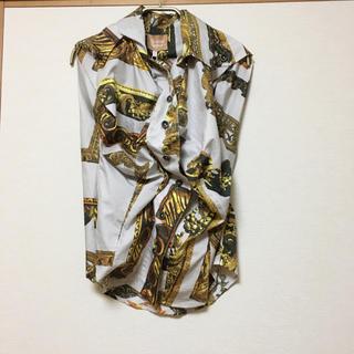 ヴィヴィアンウエストウッド(Vivienne Westwood)のVivienne Westwood 額縁 ノースリーブ ブラウス(シャツ/ブラウス(半袖/袖なし))