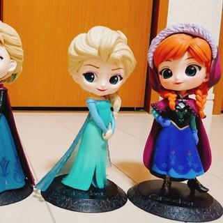 アナトユキノジョオウ(アナと雪の女王)のQposket アナと雪の女王 エルサ アナ 4体セット(キャラクターグッズ)