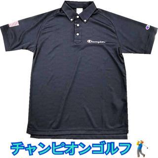 Champion - CHAMPION/チャンピオン【メンズ】 半袖ポロシャツ ネイビー  ゴルフ