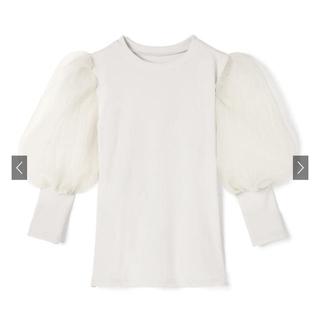 グレイル(GRL)のgrl 袖チュール切替ニットトップス(シャツ/ブラウス(半袖/袖なし))