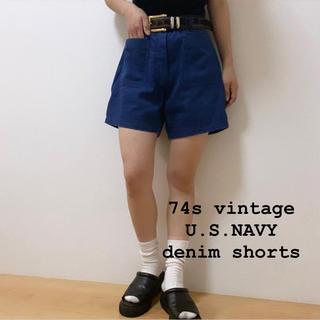 DEPT - 70s vintage U.S.NAVY デニムショーツ セーラーパンツ