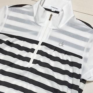 Calvin Klein - Calvin Klein ジップ半袖カットソー ☆美品