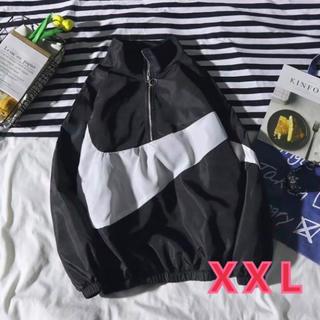 ビックロゴ ジャンバー オーバーサイズ 韓国 ブラック XXL