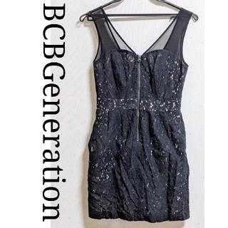 ビーシービージーマックスアズリア(BCBGMAXAZRIA)のビーシービージェネレーション レースワンピース ブラックドレス BCBG(ミニワンピース)