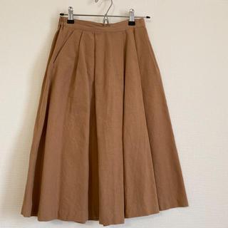 ジーユー(GU)のミモレ丈スカート(その他)