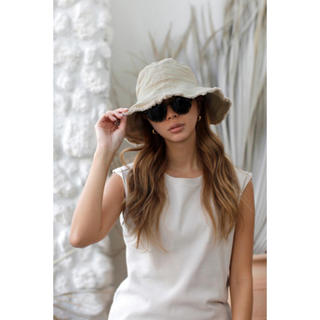 room306 CONTEMPORARY - 新品room306 Fringe Design Bucket Hat beige