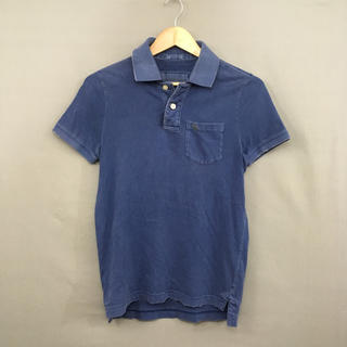 Abercrombie&Fitch - アバクロ 半袖 ポロシャツ 後染めダメージ加工 ウォッシュド ムースロゴ 刺繍