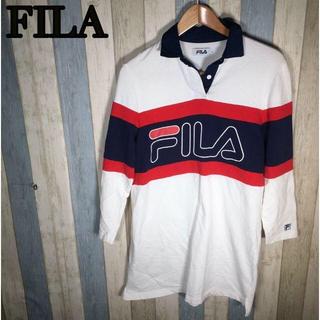 フィラ(FILA)のFILA フィラ ポロシャツ デカロゴ デカ文字 ビッグロゴ(ポロシャツ)