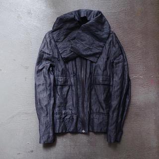 ラフシモンズ(RAF SIMONS)のBlack Shiny jacket by RAFSHIMONS(ブルゾン)