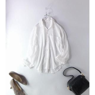 トゥモローランド(TOMORROWLAND)のトゥモローランド GALERIE VIE 日本製 透け感が素敵な シャツブラウス(シャツ/ブラウス(長袖/七分))
