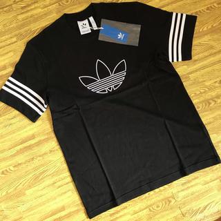 アディダス(adidas)の【新品】アディダスオリジナルス Tシャツ サイズL  アウトライン ブラック(Tシャツ/カットソー(半袖/袖なし))