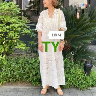 H&M - 完売品 M レア H&M イギリス刺繍 ワンピース ドレス 水原希子 限定 ザラ