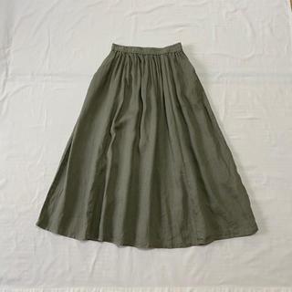 ムジルシリョウヒン(MUJI (無印良品))の無印良品 リネン100% ロングスカート(ロングスカート)