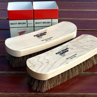 レッドウィング(REDWING)のレッドウィングREDWING米国製ブーツブラシ2点セット☆馬毛ホースヘアー(ブーツ)