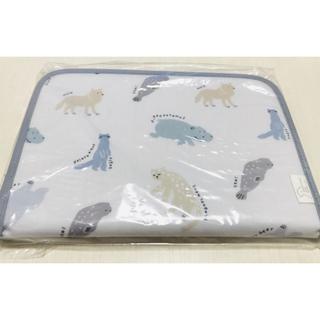 gelato pique - ジェラピケ 【旭山動物園】横型母子手帳ケース アニマル ブルー ジェラートピケ