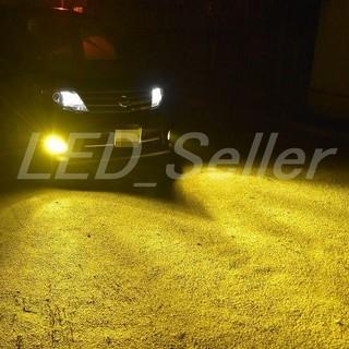 車検対応3000k ゴールドイエローLED フォグランプ H8/H11/H16