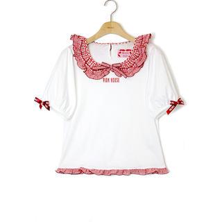 PINK HOUSE - PINKHOUSE misako×erinko フリル衿付きカットソー