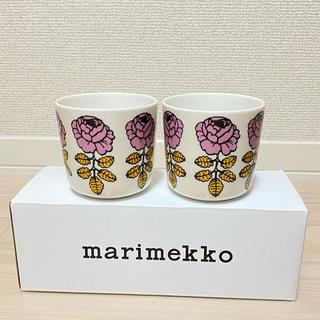 marimekko - マリメッコ ラテマグ ヴィヒキルース ピンク×イエロー