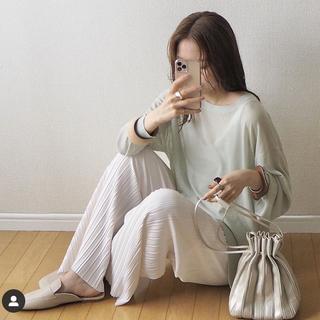 GU - 【新品未使用】シアーオーバーサイズセーター(長袖)★グリーン★L★