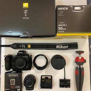 ニコン(Nikon)の【全12点セット売り】NikonZ6 FTZキット,50mm F1.8,XQD等(ミラーレス一眼)
