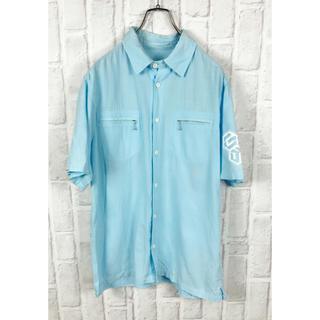 グッドイナフ(GOODENOUGH)の激レア GOOD ENOUGH シャツ リネン プリント 古着 半袖 ビッグ(シャツ)