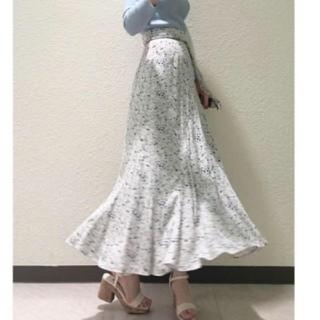 snidel - 新品タグ付 プリントナローフレアスカート 1 ミント SNIDEL