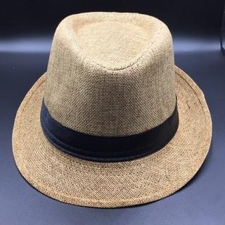中折れハット ハット 帽子 麦わら帽子 ストローハット ベージュ