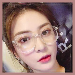 ❤最安❤レディース 伊達メガネ 眼鏡 クリア スクエア ダテメガネ (サングラス/メガネ)
