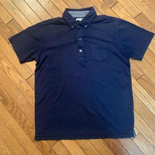 グローバルワーク(GLOBAL WORK)のボタンダウンポロシャツ紺/グローバルワーク(ポロシャツ)