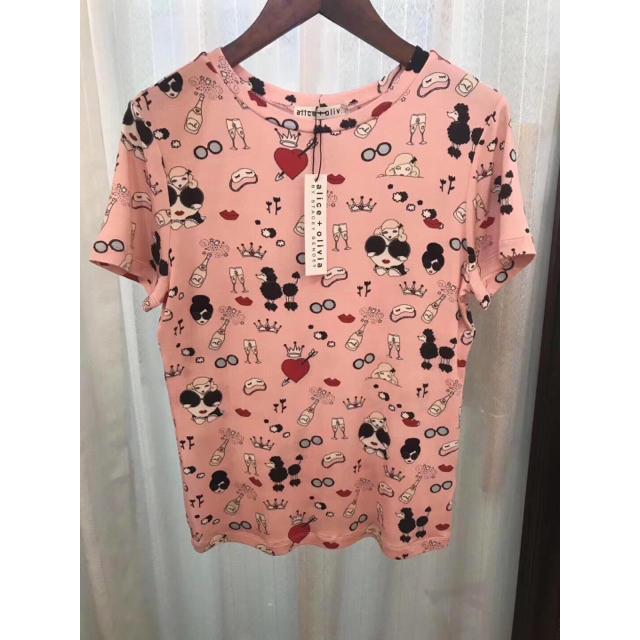 Alice+Olivia(アリスアンドオリビア)の❣️20春夏新作Alice+Olive アリスオリビアT-シャツ レディースのトップス(Tシャツ(半袖/袖なし))の商品写真