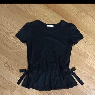 エムプルミエ(M-premier)の☆M-premier BLACK エムプルミエブラック リボン付きカットソー☆(Tシャツ(半袖/袖なし))