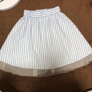 レピピアルマリオ(repipi armario)のレピピアルマリオ ストライプスカート Sサイズ(スカート)