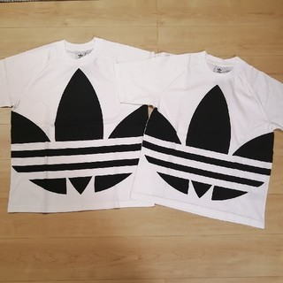 adidas - 新品タグ付 アディダス  ビッグ トレフォイル  Tシャツ  ホワイト S  L