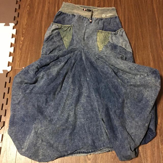 EL RODEO(エルロデオ)のデニムロングスカート レディースのスカート(ロングスカート)の商品写真