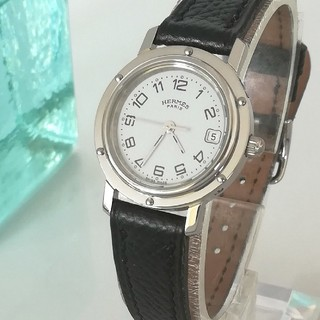 Hermes - 綺麗 エルメス クリッパー 3針 白 ほぼ未使用 レディースウォッチ時計 極美品