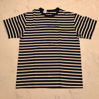 エヌハリウッド(N.HOOLYWOOD)のN.HOOLYWOOD ボーダー ポケットTシャツ 紺×白(Tシャツ/カットソー(半袖/袖なし))