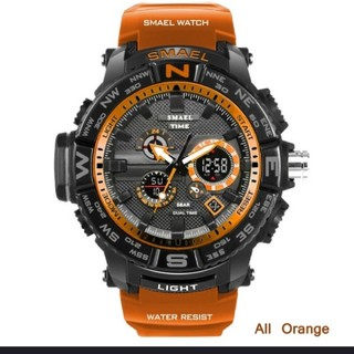 【新品・未使用】LEDデジタル&アナログDual 30m防水メンズスポーツ腕時計(腕時計(デジタル))