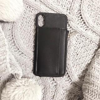 ムルーア(MURUA)の【新品】MURUA iPhoneX,XSケース/ブラック(iPhoneケース)