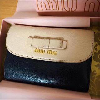 miumiu - MiuMiu ミュウミュウ バイカラー折財布