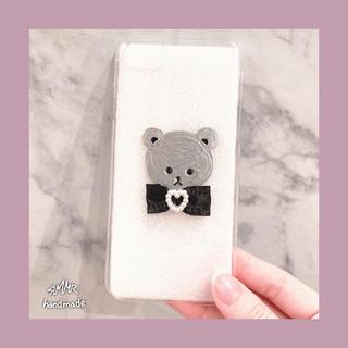 シルバー クマさん iPhone7&8ケース(iPhoneケース)