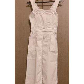 31 Sons de mode - ホワイトデニム ジャンパースカート