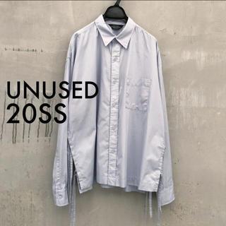 UNUSED - 20s/s 定価35200円 半額以下! UNUSED サイドスリットシャツ