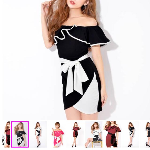 dazzy store(デイジーストア)のdazzy store 黒ドレス ミニドレス レディースのフォーマル/ドレス(ミニドレス)の商品写真