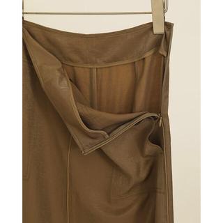 トゥデイフル(TODAYFUL)のTodayful Satin Piping Skirt/ OLV 38(ロングスカート)