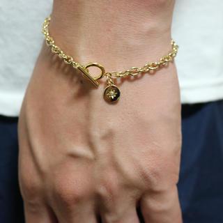 ロンハーマン(Ron Herman)のラウンド ストーン チェーン ブレスレット ゴールド bracelet(ブレスレット)