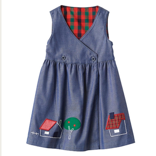 familiar - familiar 新品・未使用 120 リバーシブルジャンパースカート