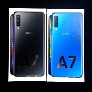 SAMSUNG - 【送料無料】galaxy A7 black blue セット【新品未開封】