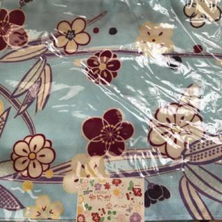 ミツコシ(三越)の洗えるお着物 花柄 ブルー(着物)