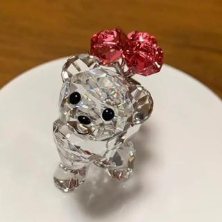 スワロフスキー(SWAROVSKI)のswarovski kris bear -say it with roses-(置物)