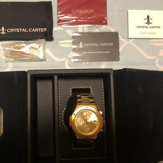 アヴァランチ(AVALANCHE)のアバランチ クリスタルカーター 時計 お盆中セール!(腕時計(アナログ))